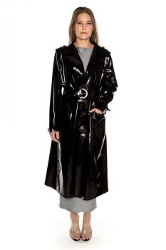 LATEX TRENCHCOAT LANG