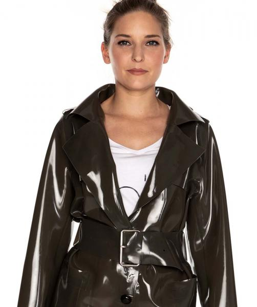 LATEX TRENCHCOAT KURZ